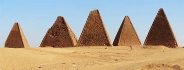 Pyramids of Kush Kingdom at Meroe, North Sudan